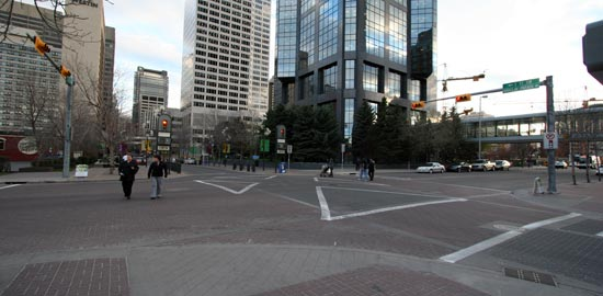Pedestrian Criss-Crossings being tested in Calgary