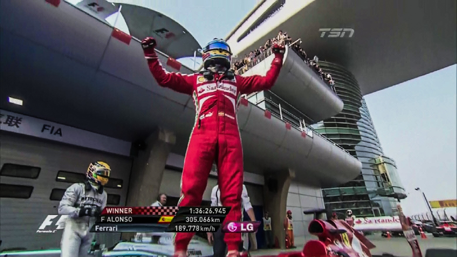 Formula 1: Fernando Alonso and Ferrari Dominates in China