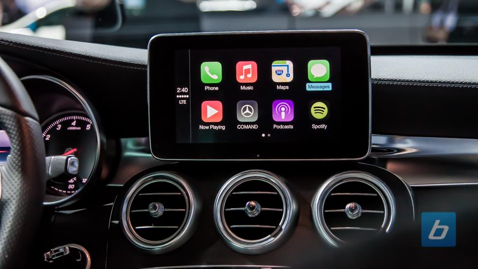 Carplay and mercedes benz for Mercedes benz apple carplay