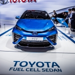 Toyotal Fuel Cell Vehicle.  Paris Motor show