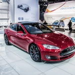 Tesla Model S P85D Arrives in Detroit for NAIAS