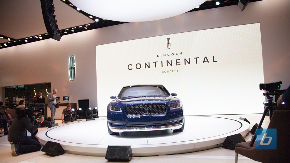 Lincoln continental concept nyias 4 Lincoln motor company canada