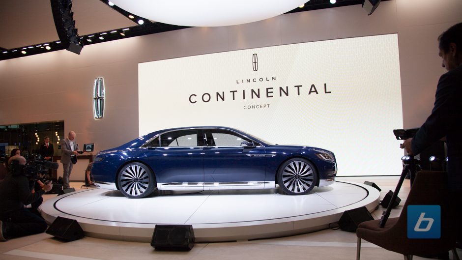 Lincoln continental concept nyias 6 Lincoln motor company canada
