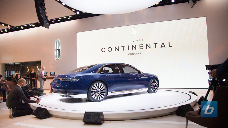 Lincoln continental concept nyias 7 Lincoln motor company canada