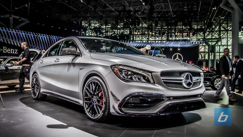 mercedes amg quietly facelifts the cla45. Black Bedroom Furniture Sets. Home Design Ideas