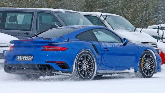 Porsche 911 GT2 RS Spied Winter Testing
