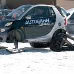 Smart Car Snowmobile