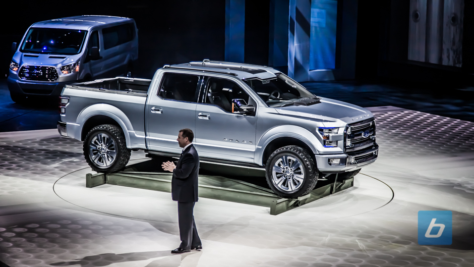 ford unveils f150 preview ford atlas concept